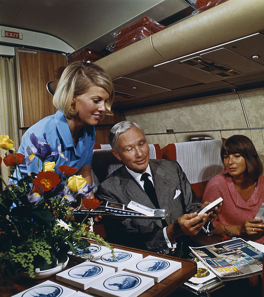 First Class Services First In Class: File:DC-8-62, Super Fan. Service On Board In First Class