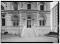 DETAIL OF ENTRANCE, NORTHWEST SIDE - Customs House and Post Office, Eleventh Street, Chattanooga, Hamilton County, TN HABS TENN,33-CHAT,1-7.tif