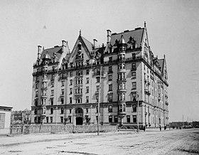 The remote Central Park West location, circa 1884