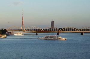 Daugava (Düna) in Riga - bridges