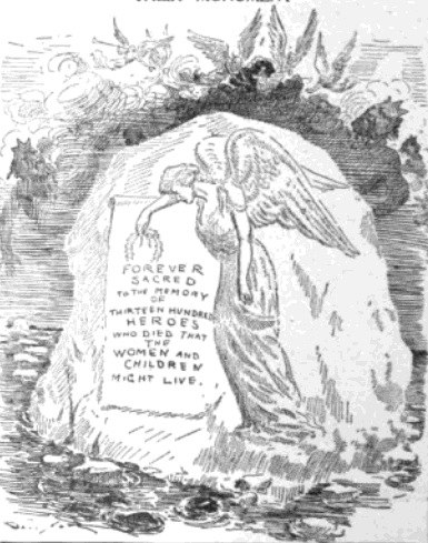 Davenport's final cartoon: to the dead of the Titanic, 1912
