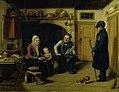 David Monies - Vægteren på nytårsvisit. Køkkenscene - KMS739 - Statens Museum for Kunst.jpg