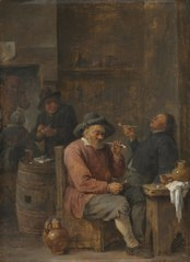 Peasants Smoking in an Inn (Cleveland)