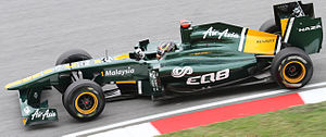 Davide Valsecchi - Valsecchi as Team Lotus' third driver at the 2011 Malaysian Grand Prix.