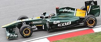 Davide Valsecchi - Valsecchi as Team Lotus' third driver at the 2011 Malaysian Grand Prix.