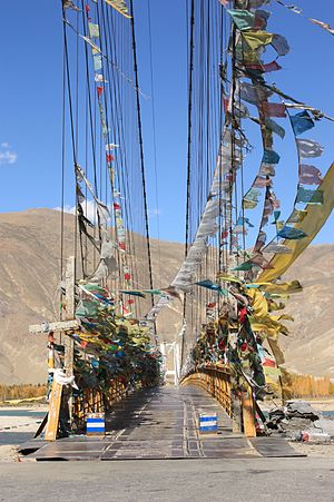 Lhasa River - Image: Dazi Bridge 1
