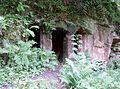 Deer Cave frontage, Dippol Burn, Auchinleck Estate.jpg