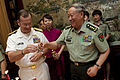 Defense.gov News Photo 110710-N-TT977-399 - Chairman of the Joint Chiefs of Staff Adm. Mike Mullen and Chief of the Peoples Liberation Army s General Staff Gen. Chen Bingde toast during.jpg