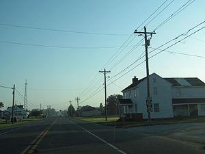 Delaware Route 30 - Eastbound DE 30 concurrent with DE 26 and DE 54 in Gumboro