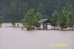 Effects of Hurricane Dennis in Georgia - Flooding in Heard County.