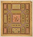Design for a paneled ceiling painted with putti, birds, and floral motifs on tracing paper; mounted on wove paper MET DP811781.jpg