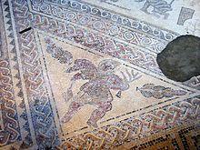 Mosaico nella villa romana di Chedworth, nei pressi di Glevum.