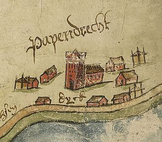 Papendrecht - Detail of Papendrecht from 1615.