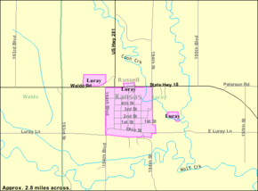 Detailed map of Luray, Kansas.png
