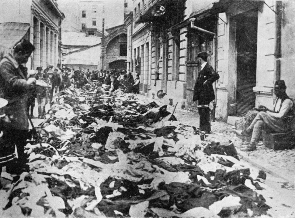 Devastated and robbed shops owned by Serbs in Sarajevo 1914