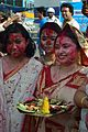 Devotees - Durga Idol Immersion Ceremony - Baja Kadamtala Ghat - Kolkata 2012-10-24 1375.JPG