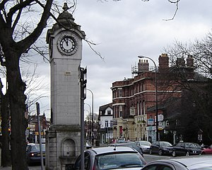 Didsbury railway station - Image: Didsbury Village 20 02 2005