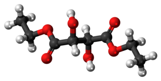 Diethyl tartrate - Image: Diethyl tartrate 3D ball