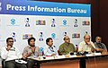 Digambar Kamat, the Director General (M&C) & Director, DFF, Shri S.M. Khan, the Chief Secretary of Goa, Shri Sanjay Srivastava, the Joint Secretary (Films), Shri D.P. Reddy, the Addl. DG (M&C), PIB.jpg