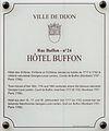 Dijon Hotel Buffon plaque information.jpg