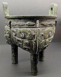 Dinastia shang, tipode ding biansato, xiii-xii sec. ac