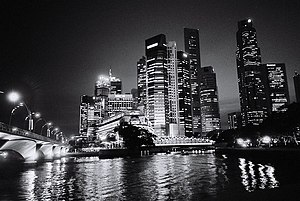 Disneyland with the Death Penalty - Nightscape of the article's subject, Singapore