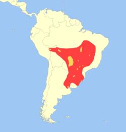 Distribution du cerf des marais