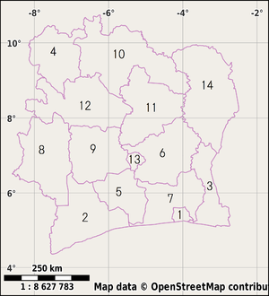 Districts of Ivory Coast - Districts of Ivory Coast