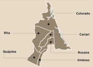 Pococí (canton) - Districts of Pococí canton