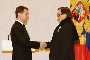 Mihail Chemiakin - Mihail Chemiakin (right) with Former Russian President Dmitry Medvedev