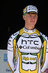 Gert Dockx showing the Team HTC-Columbia jersey