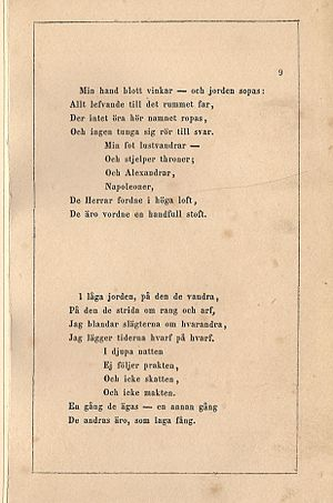 Johan Olof Wallin - Image: Dodens Engel 1851 0017
