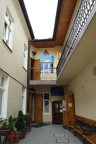 Pope John Paul II - The courtyard within the family home of the Wojtyłas in Wadowice, Poland