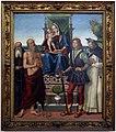 Domenico panetti, maestà tra i ss. antonio abate, giobbe, giuliano e pietro martire, 1503, da s. giobbe a ferrara 01.jpg