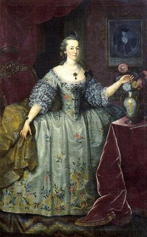 Eleonora Ernestina von Daun, Marquise of Pombal - Portrait of Eleanora Ernestina von Daun, Marquise of Pombal