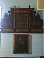 Donor's plaque and coat of arms in Ristiina Church, Finland, circa 1650.jpg