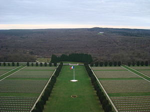 Douaumont Ossuary - The cemetery outside of the ossuary