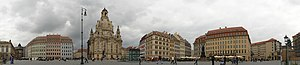 Neumarkt (Dresden) - Panorama of reconstructed sections of the Dresdner Neumarkt in May 2008