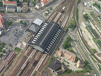 Dresden-Neustadt station - Aerial view of the station (Summer 2006)