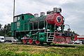 Dubna steam locomotive 0-3-0 class 9P Number 9P512 Bolshaia Volga station.jpg