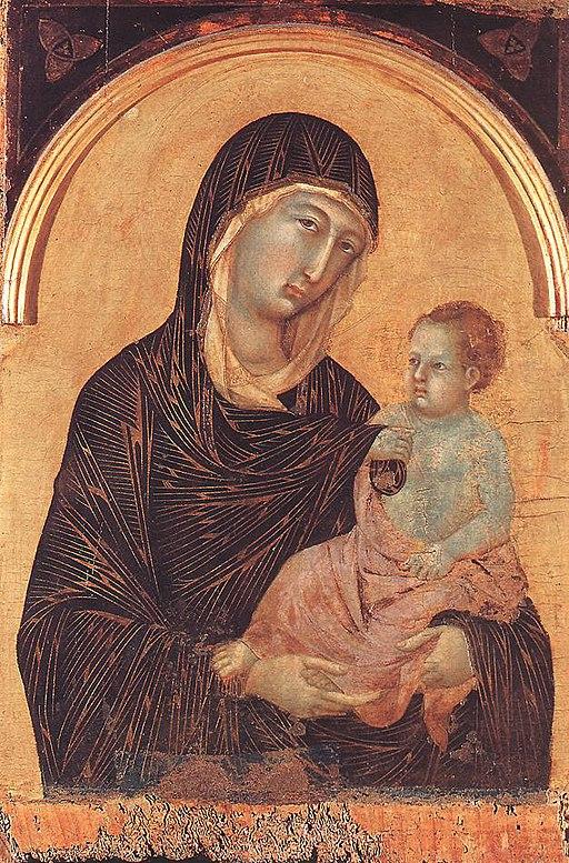 Duccio di Buoninsegna, Polittico n. 28 (dettaglio), 1300-1305 circa, tempera e oro su tavola, 138,6 × 241,5 cm, Pinacoteca Nazionale, Siena