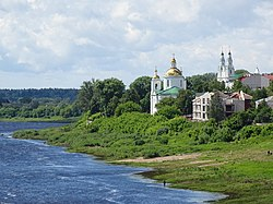 Dvina River with Former Lutheran Church and Cethedral of St. Sophia - Polotsk - Vitebsk Oblast - Belarus (27348549300).jpg