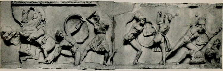 EB1911 Greek Art - Portion of frieze of mausoleum.jpg