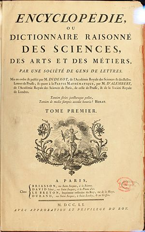 Cover of L'Encyclopédie (1751)