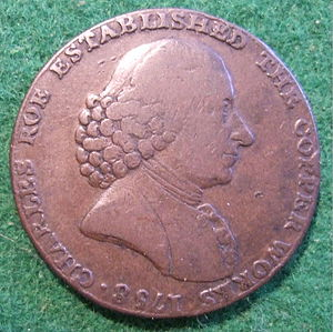 Charles Roe - Image: ENGLAND, LIVERPOOL Mac CLESFIELD HALFPENNY TOKEN 1795 a Flickr woody 1778a