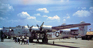 B-24 Liberator units of the United States Army Air Forces - The last active USAF B-24, 44-51228 in 1952, just prior to its retirement