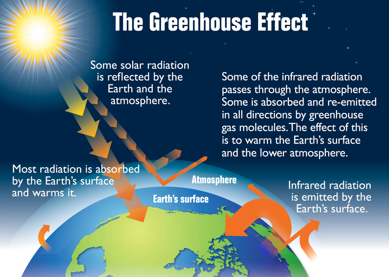 The greenhouse effect - click to view larger version