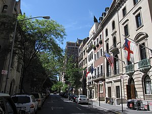 Upper East Side - East 69th Street between Park and Madison Avenues, in the Upper East Side Historic District