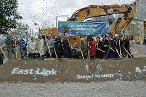 East Link Extension (Sound Transit) - Groundbreaking ceremony for East Link on April 22, 2016