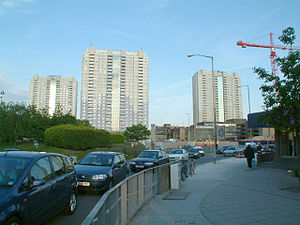 Edmonton Green Shopping Centre -  Tower blocks at Edmonton Green
